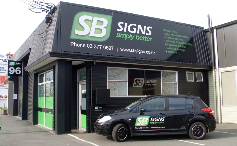 SB Signs Chirstchurch, Signwriters, Signs, Signage, Sign Writers